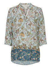 Bluse mit floralem allover Print Betty Barclay Blue/Rosé - Blau