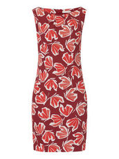 Kleid mit floralem Print Betty & Co Red/White - Rot
