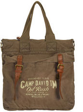 Wolf Creek Shopper Tasche 38 cm Laptopfach Camp David khaki
