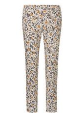 Damenhose mit Muster in allover Print Betty & Co Bunt - Weiß