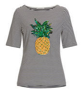 Shirt Ananas mit Ringel Betty Barclay Dunkelblau/Weiß - Blau