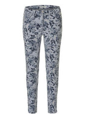 Hose im Casual Stil mit Blumenmuster Betty Barclay Grey/Blue - Grau
