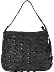 Marokko Alia Triangle Shopper Tasche Leder 41 cm Billy the kid black