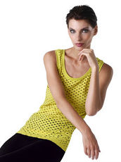 Tanktop in Mesh-Optik Alba Moda Red schwarz