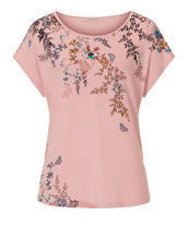 T-Shirt mit Blumenprint Betty Barclay Rosé/Green - Rot