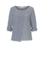 Bluse mit Allover Muster Betty Barclay Schwarz/Braun - Grau