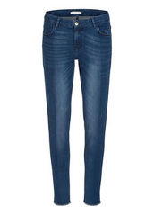 Denim Jeans mit Spray Effekt Betty & Co Dunkelblau/Blau - Blau