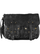 Daytona Messenger Bag Leder 38 cm Tabletfach Billy the kid black
