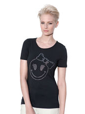 Shirt AMY VERMONT schwarz mit Smiley