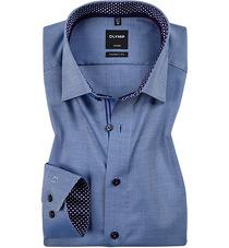 Olymp Luxor Modern Fit Hemd grau Minimal Muster 1217 24 68